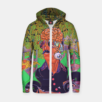 Thumbnail image of Pizza or Soda Zip up hoodie, Live Heroes