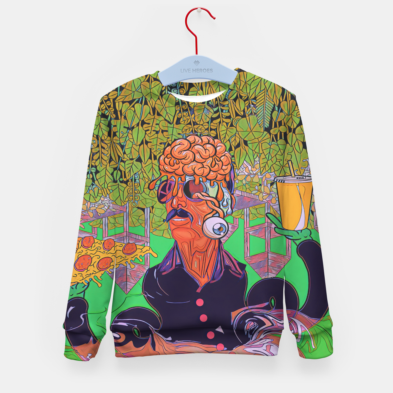 Image of Pizza or Soda Kid's sweater - Live Heroes