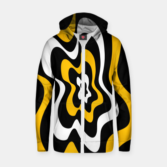 Miniature de image de Abstract pattern - orange, black and white. Zip up hoodie, Live Heroes