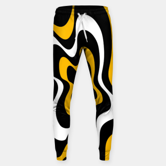 Miniatur Abstract pattern - orange, black and white. Sweatpants, Live Heroes