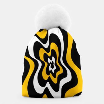 Miniatur Abstract pattern - orange, black and white. Beanie, Live Heroes