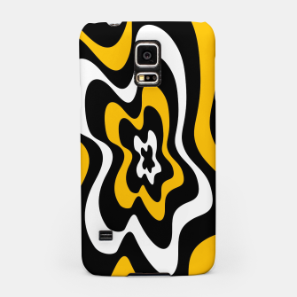 Miniatur Abstract pattern - orange, black and white. Samsung Case, Live Heroes