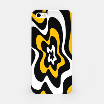 Miniaturka Abstract pattern - orange, black and white. iPhone Case, Live Heroes
