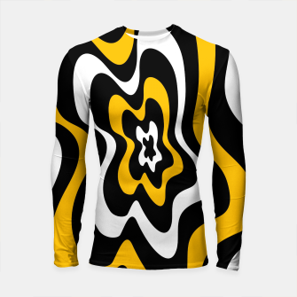Thumbnail image of Abstract pattern - orange, black and white. Longsleeve rashguard , Live Heroes