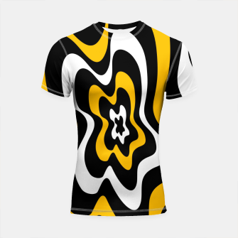 Miniatur Abstract pattern - orange, black and white. Shortsleeve rashguard, Live Heroes