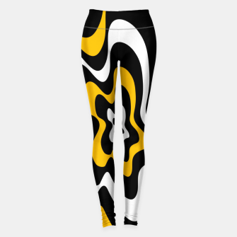 Miniatur Abstract pattern - orange, black and white. Leggings, Live Heroes
