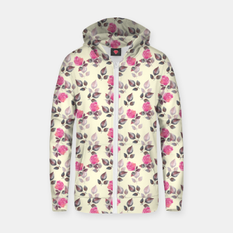 Miniature de image de Pattern of roses Zip up hoodie, Live Heroes