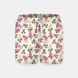 Thumbnail image of Pattern of roses Swim Shorts, Live Heroes