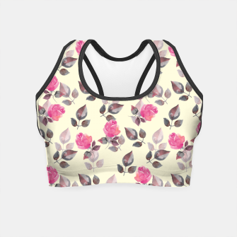 Miniature de image de Pattern of roses Crop Top, Live Heroes