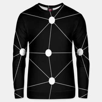 Thumbnail image of Abstract geometric pattern - black and white. Unisex sweater, Live Heroes