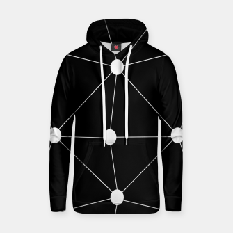 Miniature de image de Abstract geometric pattern - black and white. Hoodie, Live Heroes