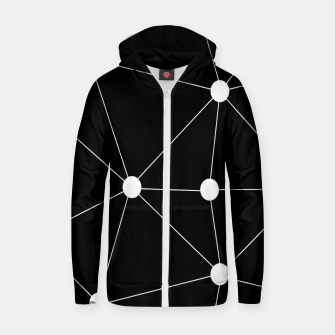 Miniature de image de Abstract geometric pattern - black and white. Zip up hoodie, Live Heroes
