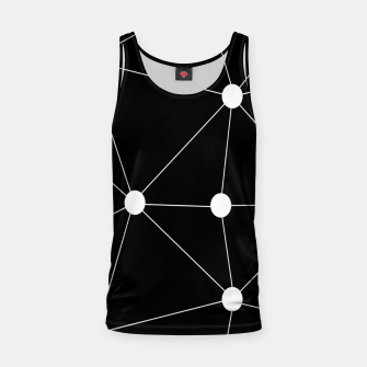 Miniatur Abstract geometric pattern - black and white. Tank Top, Live Heroes