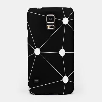 Miniatur Abstract geometric pattern - black and white. Samsung Case, Live Heroes