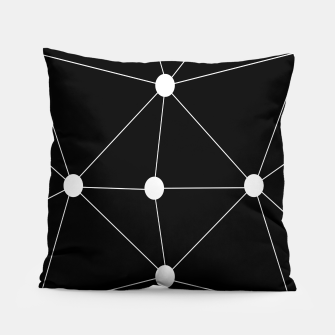 Miniature de image de Abstract geometric pattern - black and white. Pillow, Live Heroes