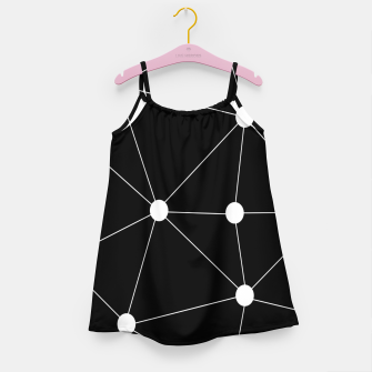 Miniatur Abstract geometric pattern - black and white. Girl's dress, Live Heroes