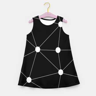 Miniatur Abstract geometric pattern - black and white. Girl's summer dress, Live Heroes