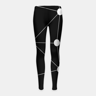 Miniatur Abstract geometric pattern - black and white. Girl's leggings, Live Heroes