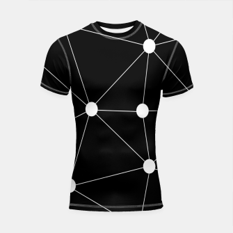 Imagen en miniatura de Abstract geometric pattern - black and white. Shortsleeve rashguard, Live Heroes