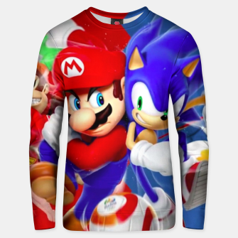 Thumbnail image of Mario vs Sonic Unisex sweater, Live Heroes