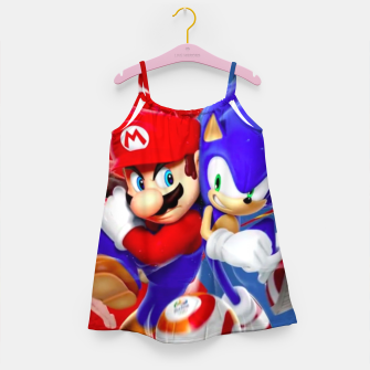 Miniatur Mario vs Sonic Girl's dress, Live Heroes