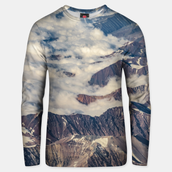 Andes Mountains Aerial View, Chile Unisex sweater obraz miniatury