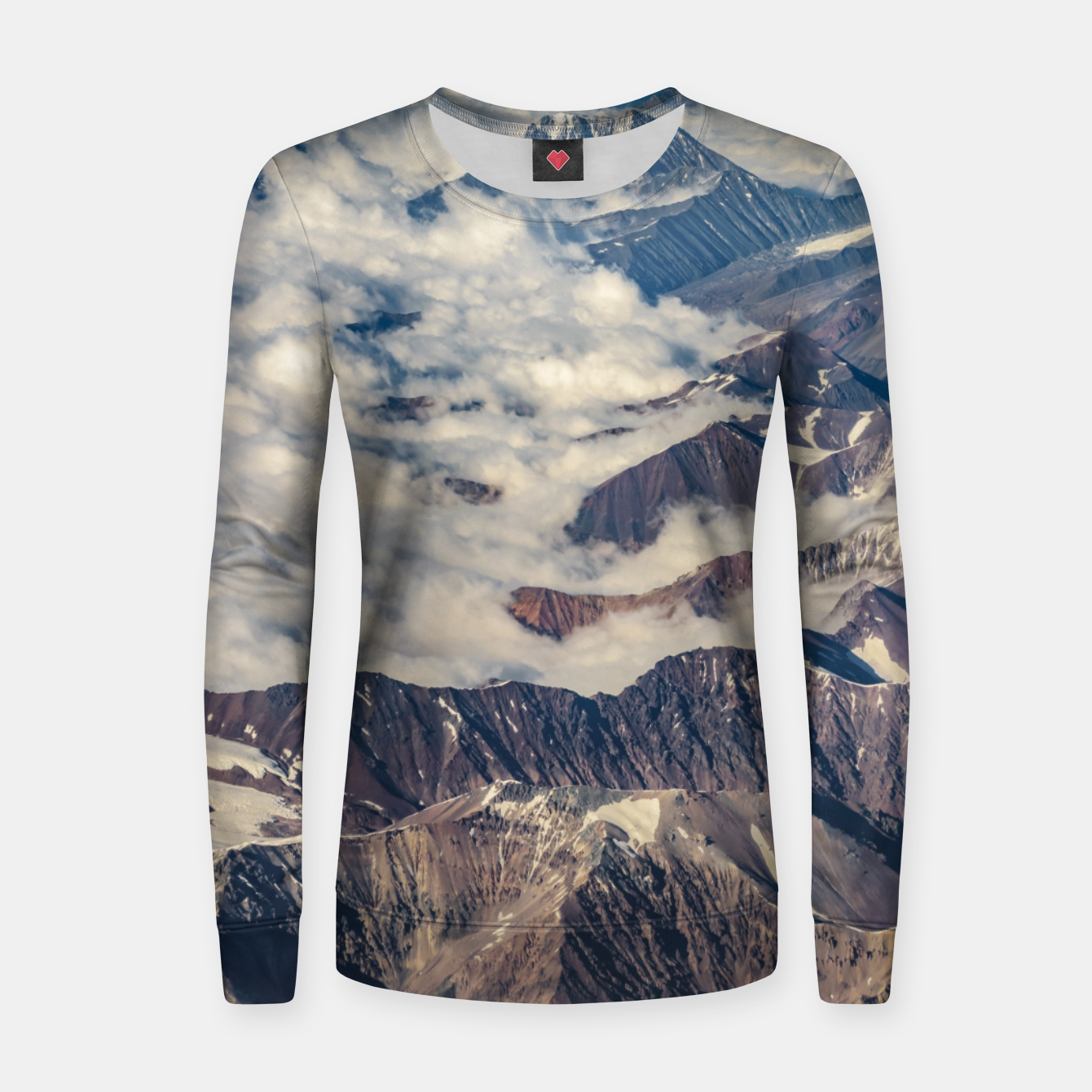 Zdjęcie Andes Mountains Aerial View, Chile Women sweater - Live Heroes