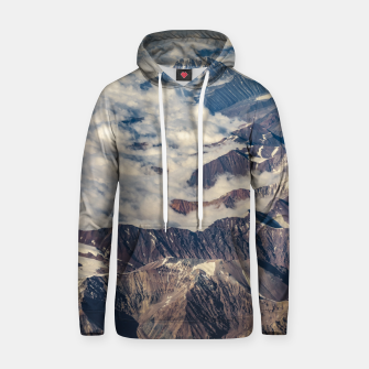 Thumbnail image of Andes Mountains Aerial View, Chile Hoodie, Live Heroes