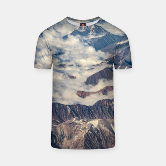 Andes Mountains Aerial View, Chile T-shirt obraz miniatury