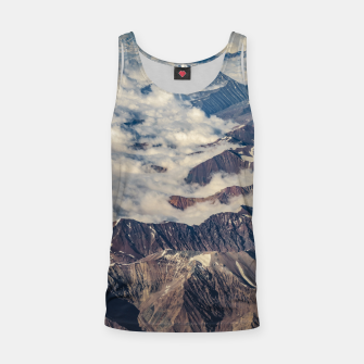 Andes Mountains Aerial View, Chile Tank Top obraz miniatury