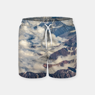 Andes Mountains Aerial View, Chile Swim Shorts obraz miniatury