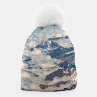 Andes Mountains Aerial View, Chile Beanie obraz miniatury