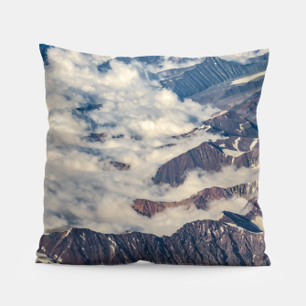 Thumbnail image of Andes Mountains Aerial View, Chile Pillow, Live Heroes