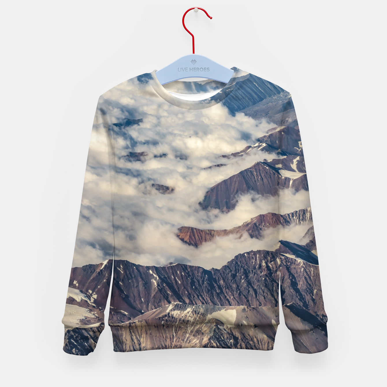 Zdjęcie Andes Mountains Aerial View, Chile Kid's sweater - Live Heroes