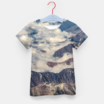 Thumbnail image of Andes Mountains Aerial View, Chile Kid's t-shirt, Live Heroes