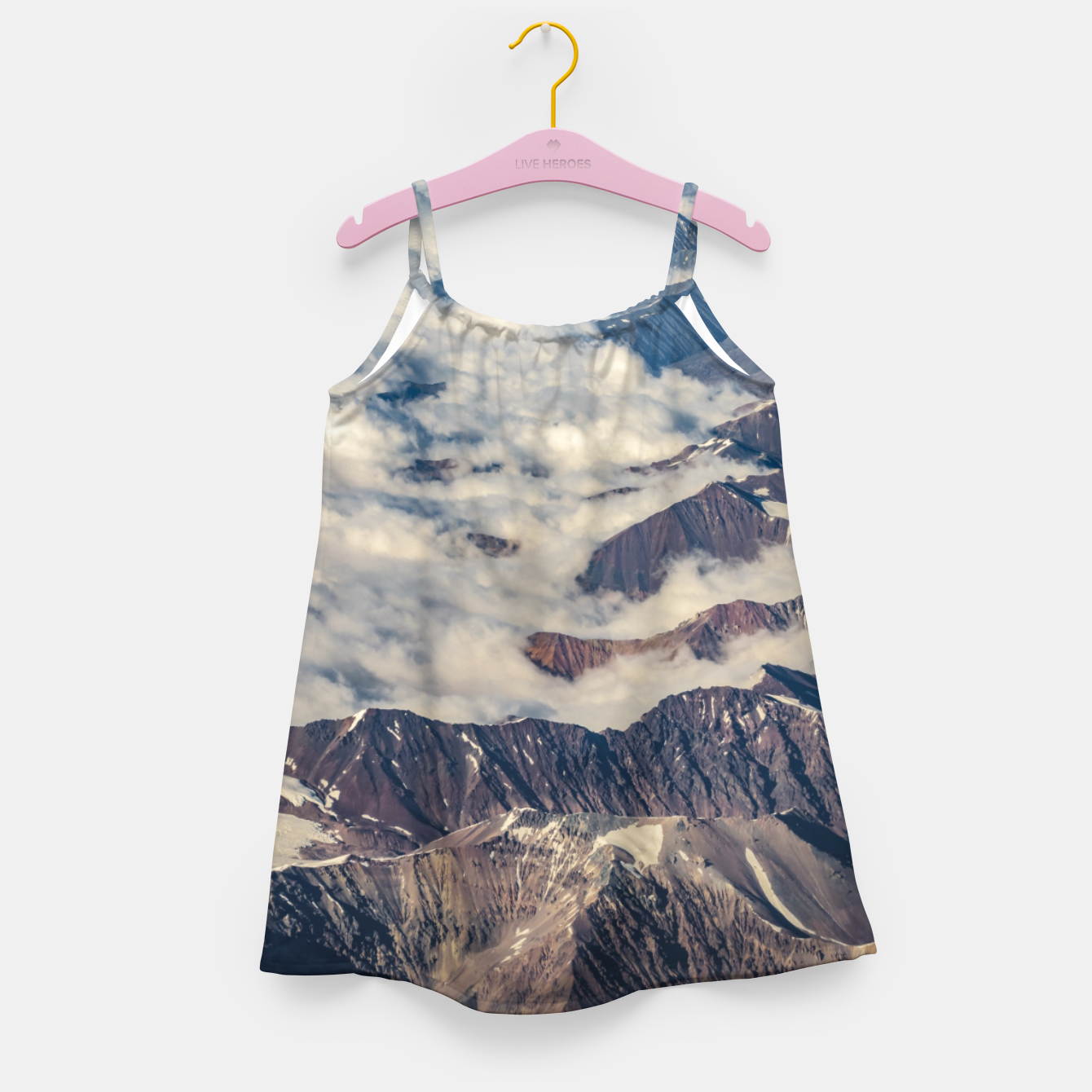 Zdjęcie Andes Mountains Aerial View, Chile Girl's dress - Live Heroes