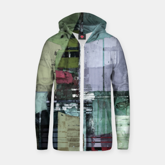 Thumbnail image of Broken building Zip up hoodie, Live Heroes