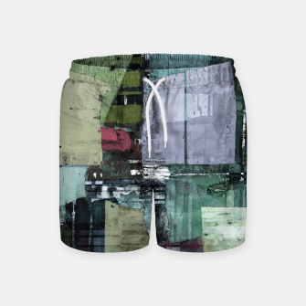 Thumbnail image of Broken building Swim Shorts, Live Heroes