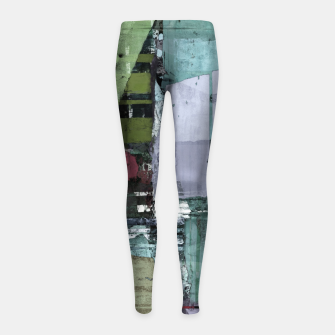 Thumbnail image of Broken building Girl's leggings, Live Heroes