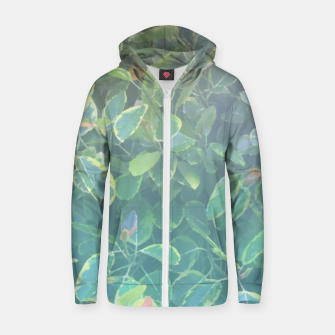 Thumbnail image of foliage_ficus benghalensis variegated Zip up hoodie, Live Heroes