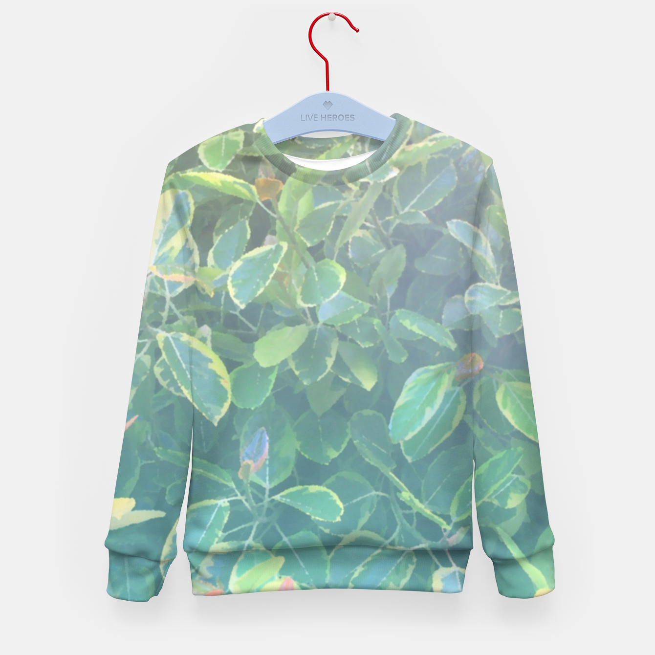 Image of foliage_ficus benghalensis variegated Kid's sweater - Live Heroes