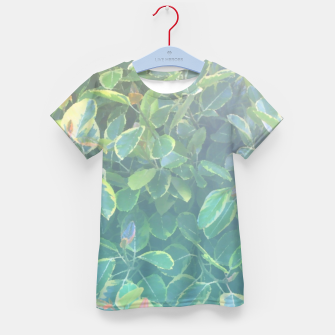 Thumbnail image of foliage_ficus benghalensis variegated Kid's t-shirt, Live Heroes