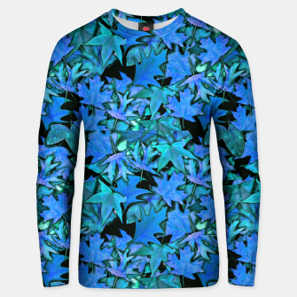 Thumbnail image of Blue Fall Leaves Unisex sweater, Live Heroes