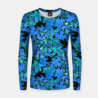 Miniaturka Blue Fall Leaves Women sweater, Live Heroes