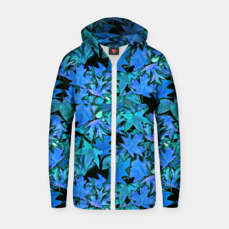 Miniature de image de Blue Fall Leaves Zip up hoodie, Live Heroes