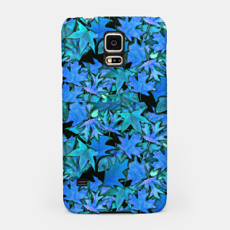 Miniatur Blue Fall Leaves Samsung Case, Live Heroes