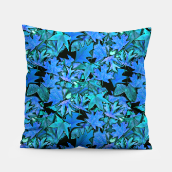 Miniature de image de Blue Fall Leaves Pillow, Live Heroes
