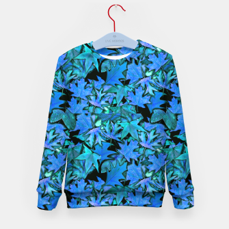 Imagen en miniatura de Blue Fall Leaves Kid's sweater, Live Heroes