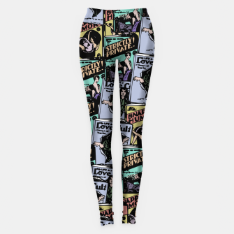 Thumbnail image of comic books pattern Leggings, Live Heroes