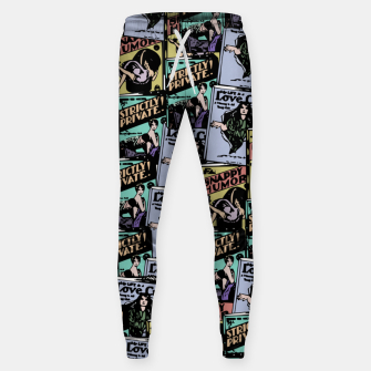 Thumbnail image of comic books pattern Sweatpants, Live Heroes